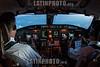 Bolivia : Interior de la cabina de un avion CRJ Bombardier en el aire / Inside the cabin of a CRJ Bombardier plane in the air / Bolivien : Kabine eines CRJ Bombardier - Flugzeuges © Patricio Crooker/LATINPHOTO.org