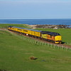 37421+37254 north of Brora working the 10:01 Inverness Milburn Yard - Thurso - Wick - Inverness Milburn Yard 13/05/18