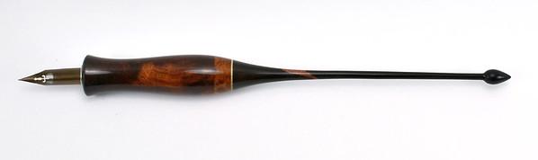 Rosewood Burl, Black Ash Burl, American Holly & Kamagong (copper dust repaired tail)