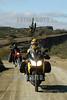 Argentina : Turistas en moto dentro del Valle de La Luna, Ischigualasto / Motorcycle tourists in the Moon Valley in Ischigualasto / Argentinien : Motorradtouristen im Mondtal in Ischigualasto © Henry von Wartenberg/LATINPHOTO.org
