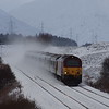 67007 approaches Dalwhinnie working the 21:15 London Euston - Inverness 06/01/18