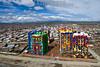 Bolivia : Vista aérea de la ciudad de El Alto / Aerial view of the city of El Alto  - rascacielos , rascacielos , rascacielos , grafito , fachada , pintura mural / Bolivien : Luftaufnahme der Stadt El Alto © Patricio Crooker/LATINPHOTO.org