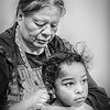 Seminole Grandmother and Grandaughter