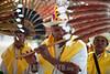 Bolivia : hombre toca la flauta durante la fiesta de la selva boliviana en el pueblo de San Ignacio / Fiesta de la selva boliviana en el pueblo de San Ignacio - man plays flute / Bolivien : Festival in San Ignacio , mann spielt Querflöte - Flöte- Instrument  © Patricio Crooker/LATINPHOTO.org