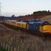 37610+37219 at Culloden working the 14:47 Inverness Milburn Yard - Mossend Yard 29/10/18