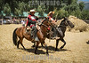 Chile - Febrero 2 de 2013  Aguila Sur, Paine -  Gauchos montando a caballo / Loose mare threshing Chilean countryside during the summer , traditional festival in Chil / Chile : Gauchos reiten auf Pferden © Marcelo de la Torre/LATINPHOTO.org