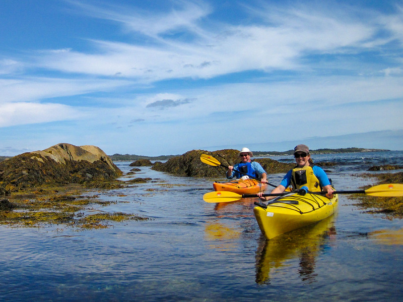 Emily and Dad take to the kayaks, Tangier NS.  Photo by: Scott Cunningham