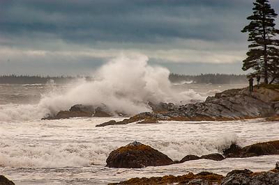 Risser's Beach during Hurricane Earl