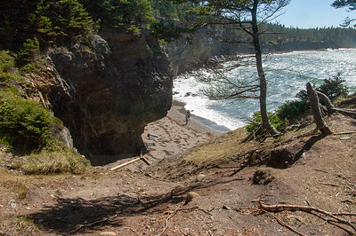 Rope ladder down to the Secret beach.  Steeper than it looks