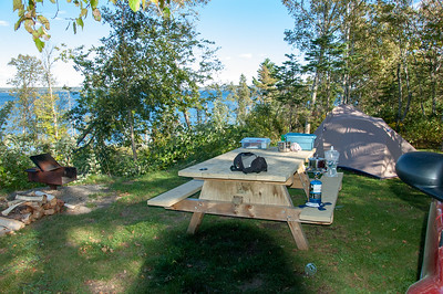 Campsite at Grave's Island, NS