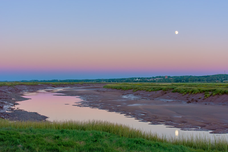 Moonrise over Wolfville, NS