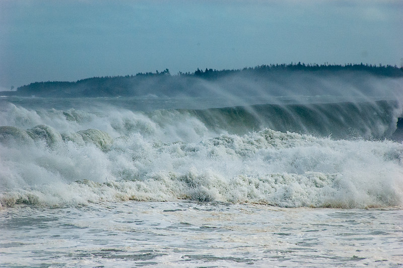 Waves into Hirtle's Beach, near Lunenburg, NS just after Hurricane Earl passed through