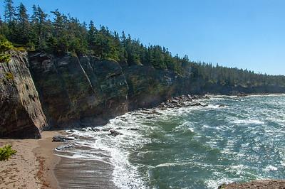 Secret beach on Gaff Head trail...cant say where.