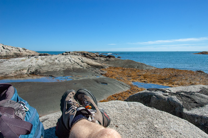 Lunchtime on the Port Joli head trail.