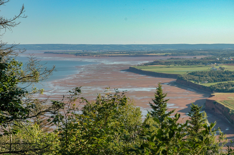 looking up the Annapolis Valley and the Minas Basin.