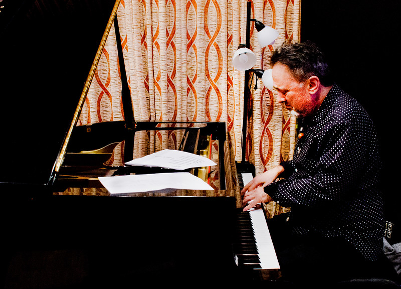Freddy Clarke and Wobbly World at Fantasy Recording Studios - Pianist at piano
