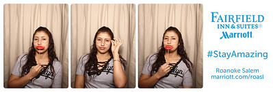 Photo booth for grand opening and ribbon cutting of the Fairfield Inn & Suites by Marriott Roanoke Salem on Thursday, Feb 22, 2018.