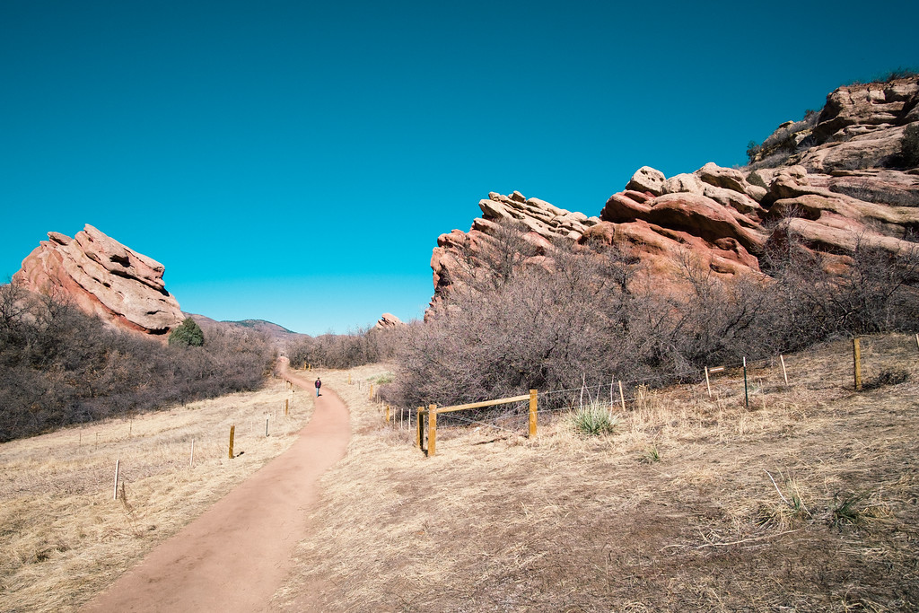 South Valley Park trail and rock formations
