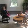 Juno listening to Sam play