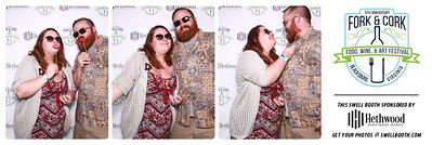 Swell Booth Photo Booth Co. at Blacksburg Partnership's Fork & Cork Wine Festival on Saturday, April 21, 2018.