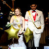 Juniors Serenity Early and Jason Jimenez discovered that they had been crowned the Plano High School 2018 prom king and queen by opening boxes that contained star-shaped balloons with their names emblazoned across them.