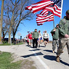 The American flag proudly waved over more than 100 marchers who took part in the first Veterans Outreach for Kendall County 10K Ruck March on Saturday morning. A ruck march is most typically associated with the military, when soldiers embark on a long march, carrying their gear in a rucksack.