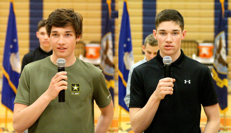 Twin brothers Keegan and Rourke Murphy, who will graduate from OHS on May 19, will join the armed forces, following in the footsteps of their older brothers – also OHS graduates.