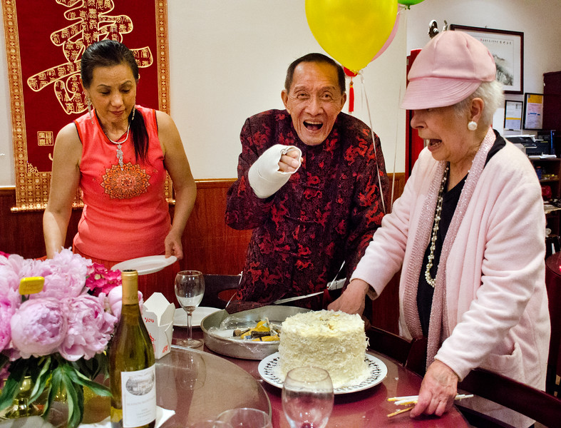 Henry Him 80th birthday party at Dong Bei Mama Restaurant