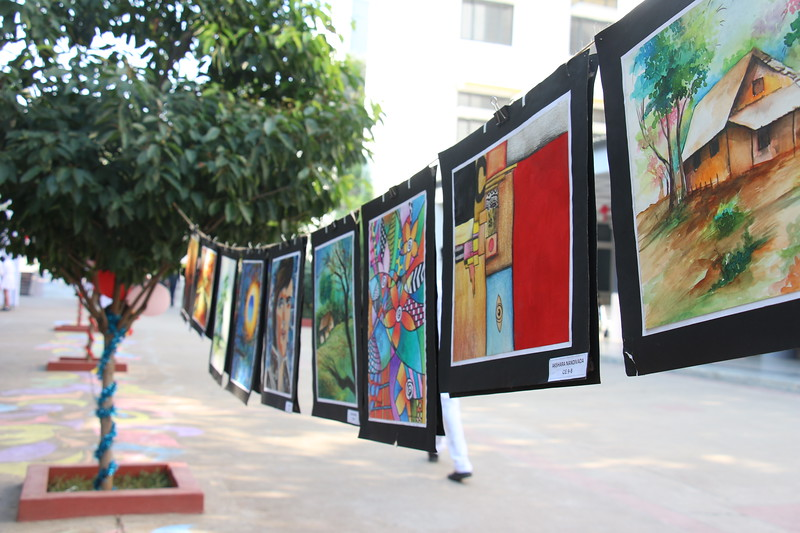 d38b8a9815e International School In Hyderabad. Devdaan Art Expo