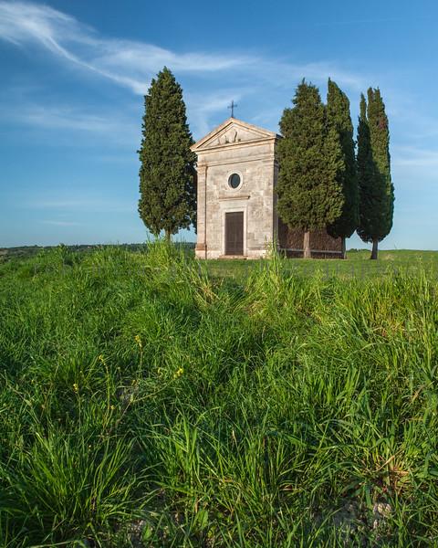 Chapel Madonna di Vitaleta , San Quirico d'Orcia , Tuscany