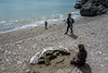 Spanien : Sandkünstler am Strand in Almuñécar in der Provinz Granada © Patrick Lüthy/IMAGOpress