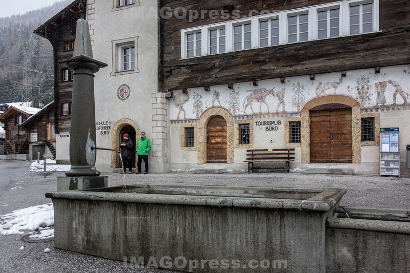 Dorfplatz in Ernen © Patrick Lüthy/IMAGOpress