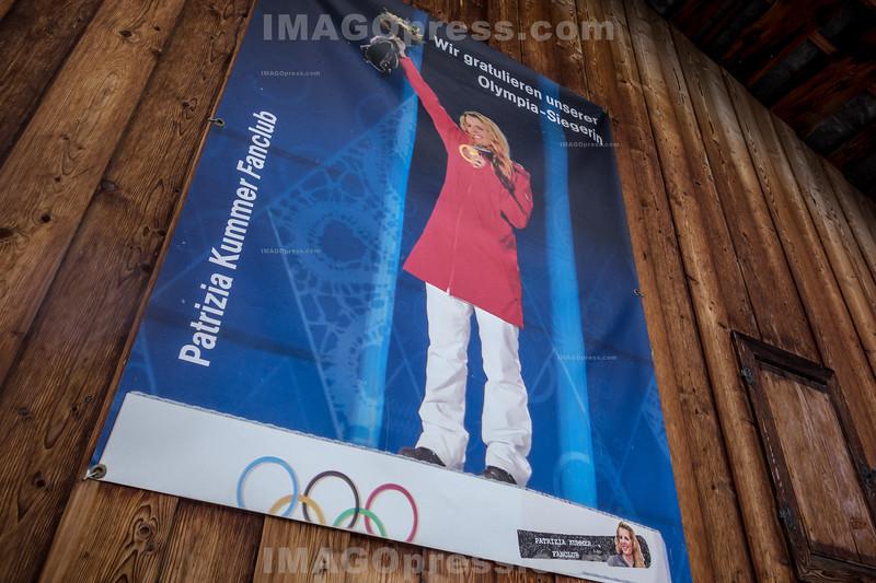 Plakat Patrizia Kummer Fanclub in Ernen © Patrick Lüthy/IMAGOpress