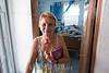 Puerto Rico - San Juan : daños por tormenta causados por el huracán María en Puerto Rico 2017 / A lady cares for her son with medical needs  who struggles without electricity in Yabucoa Town , 6 months after hurricane Maria / Puerto Rico : Sturmschäden verursacht durch den Hurrikan Maria in Puerto Rico © Rob Zambrano/LATINPHOTO.org