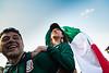 Hinchas Mejicanos en Fifa Fan Fest. Moscu, Rusia