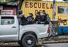 Nicaragua - Managua 13/09/2018 Policia Orteguista militariza la zona de Metrocentro a ENEL central luego que un grupo de autoconvocados anunciara un planton frente a la UCA - Los antimotines tambien se apostaron en la rotonda JPG , Universitaria , La Virgen y metrocentro / Police control the streets in Managua on 13/10/2018 / Nikaragua : Polizeieinheiten kontrollieren am 13.10.2018 die Strassen in Managua © Oscar Enrique Navarrete Aguilar/LATINPHOTO.org