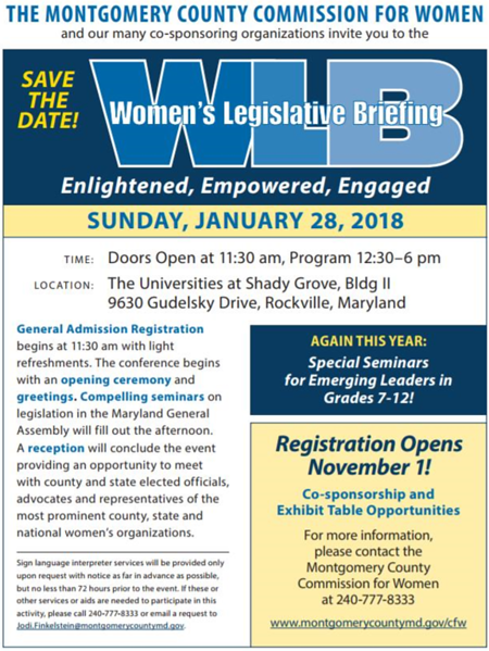2018-01-28 Women's Legislative Briefing