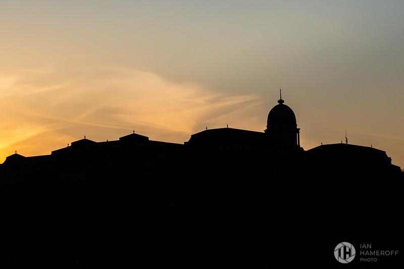 Buda Castle Silhouette