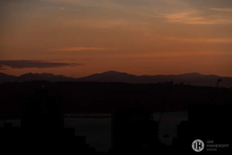Sunset Over West Vancouver