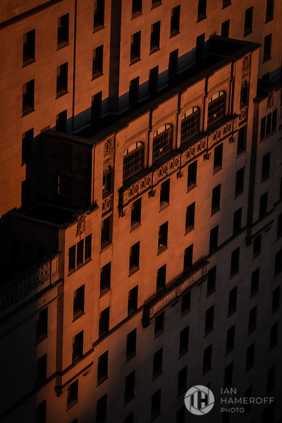 Sunset on Building