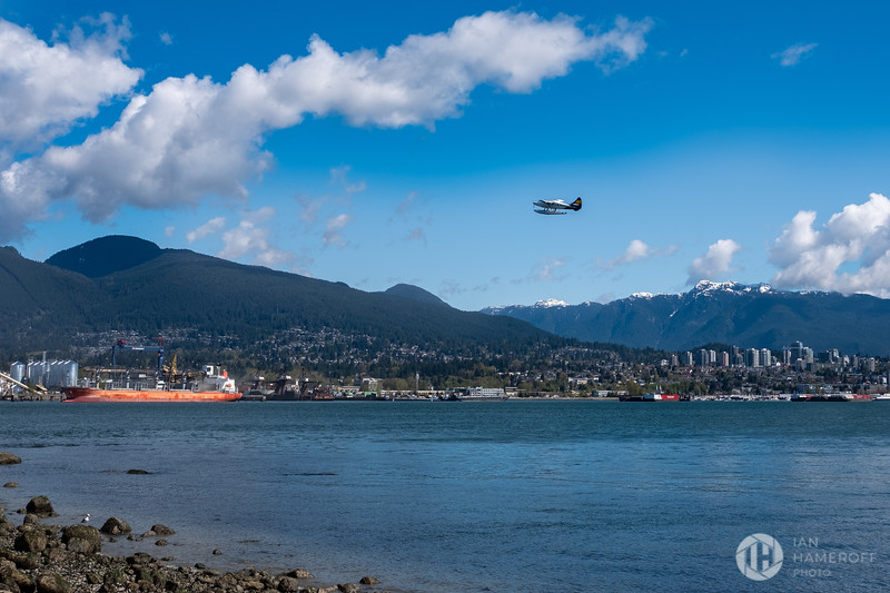 Sea Plane Over Van City