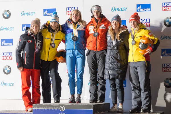 Women's medal podium