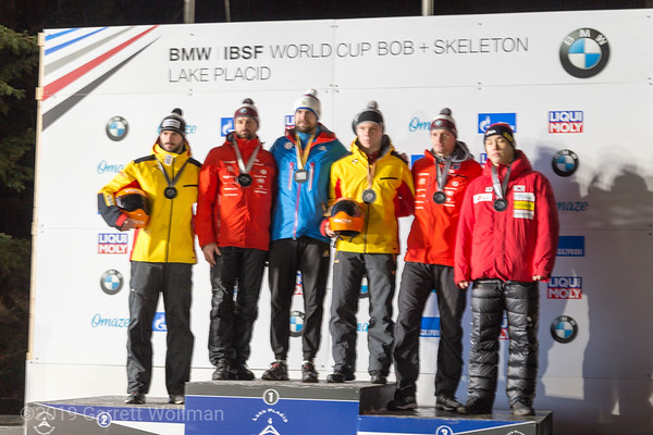 Men's medal podium