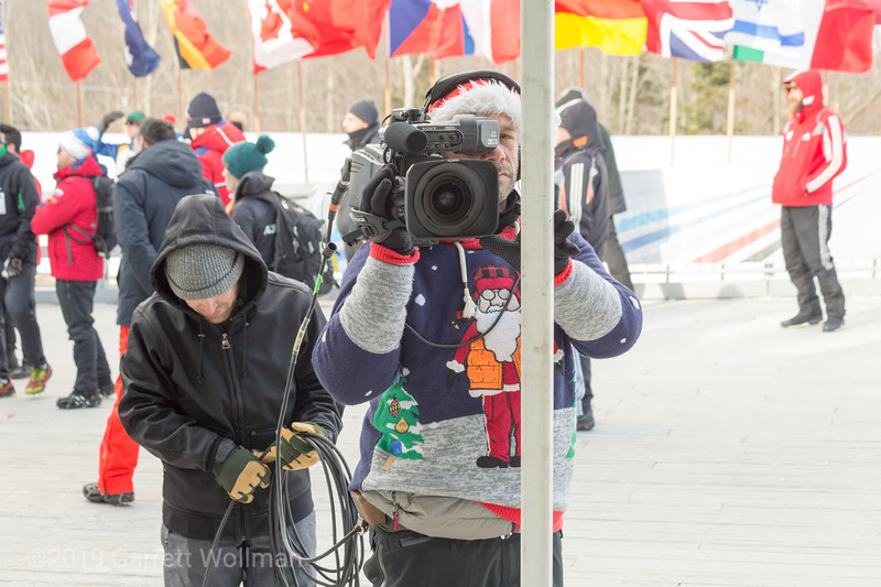 IBSF TV crew watching me take pictures of them