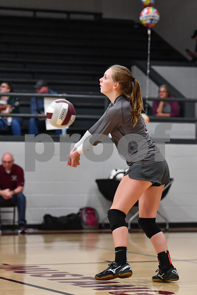Atkins @ Perryville playing in a  conference volleyball match.