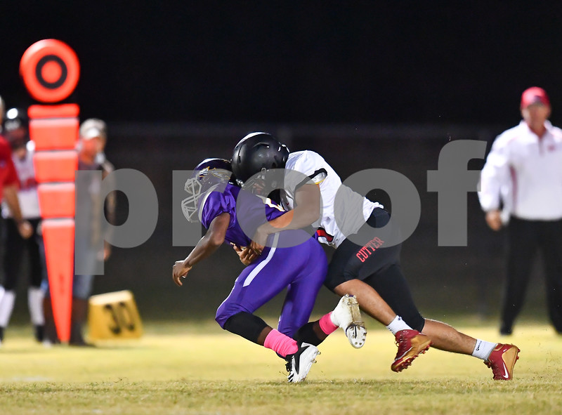 Cutter Morning Star @ Poyen playing in a  conference football game.