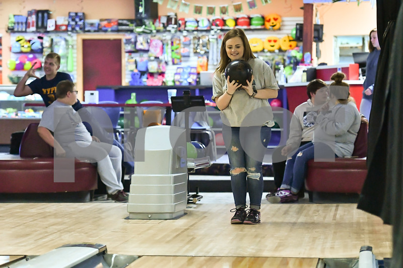 Perryville high school bowling team practice in Conway Arkansas.