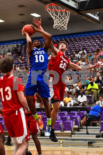 AAA high school all stars. Girls basketball, boys basketball, football. Event held in Conway at the University of Central Arkansas.