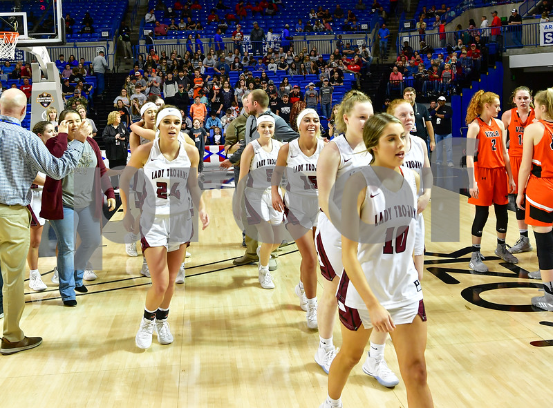 1A State Basketball finals. Game was played at the Bank Of The Ozarks Arena in Hot Springs Arkansas