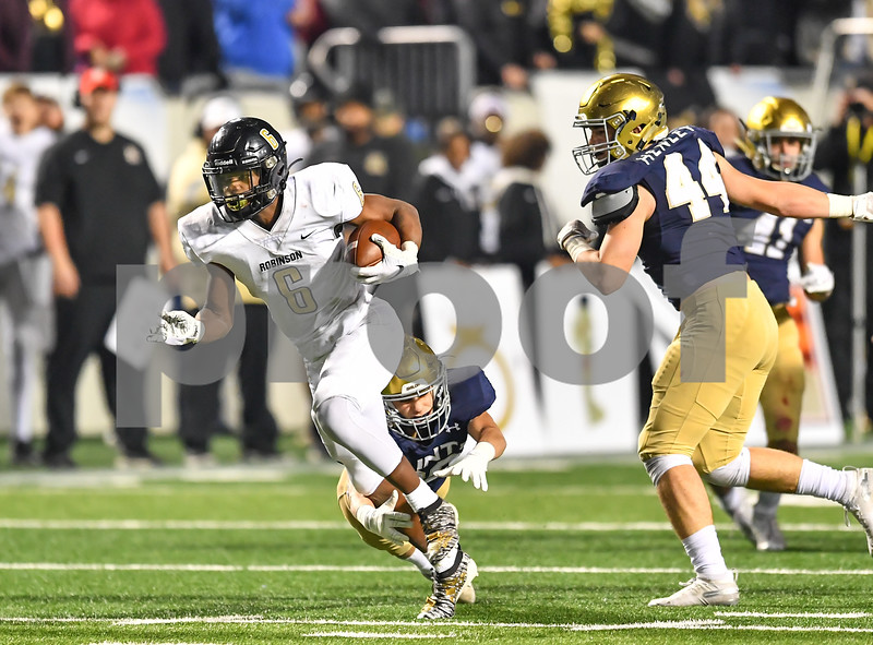 .Robinson vs Shiloh Christian in the 4A state football final. Game was played at the War Memorial Stadium in  Little Rock  Arkansas.